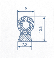 Co-extruded Rubber Profile