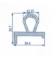 Co-extruded EPDM Profiles