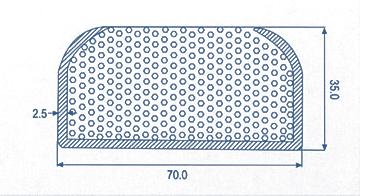 Custom Extruded EPDM Parts Dual Durometer Extrusions