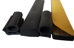 Sponge Extrusions with Self-adhesive Strip