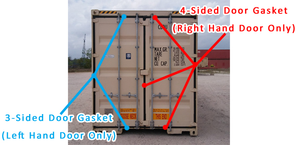 container door gaskets