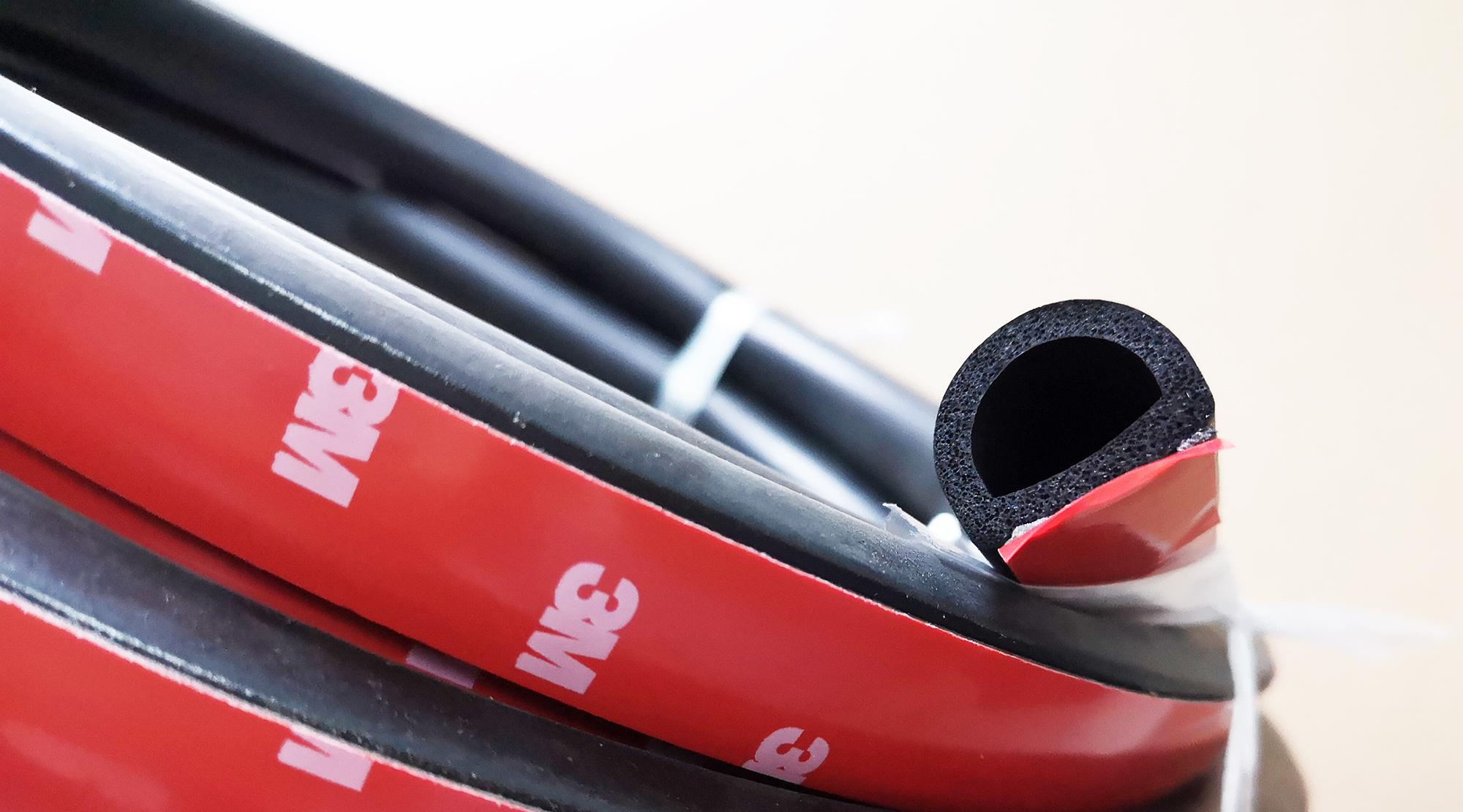 Fireproof Epdm Sponge Rubber Seals Gaskets D Shaped 3 4 W X